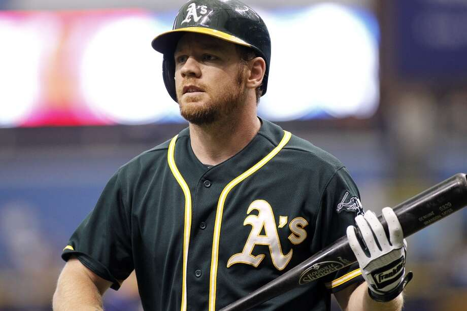 MVP (hitting division):  Brandon Moss is convincing everyone he doesn't need to platoon (he's killing lefties) and is tops on the A's in RBIs and OPS, also tied for the lead in homers. Photo: Brian Blanco, Getty Images