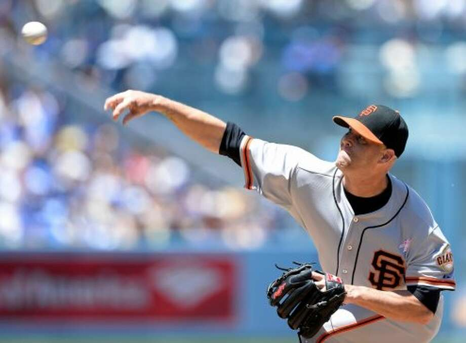 MVP (pitching division):  At 38, Tim Hudson has morphed into Greg Maddux. Photo: Harry How, Getty Images