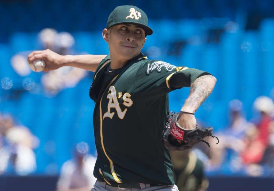 Biggest stunner:Jesse Chavez entered spring training as Oakland's No. 7 starter and is having the season of his life. Photo: Darren Calabrese, Associated Press