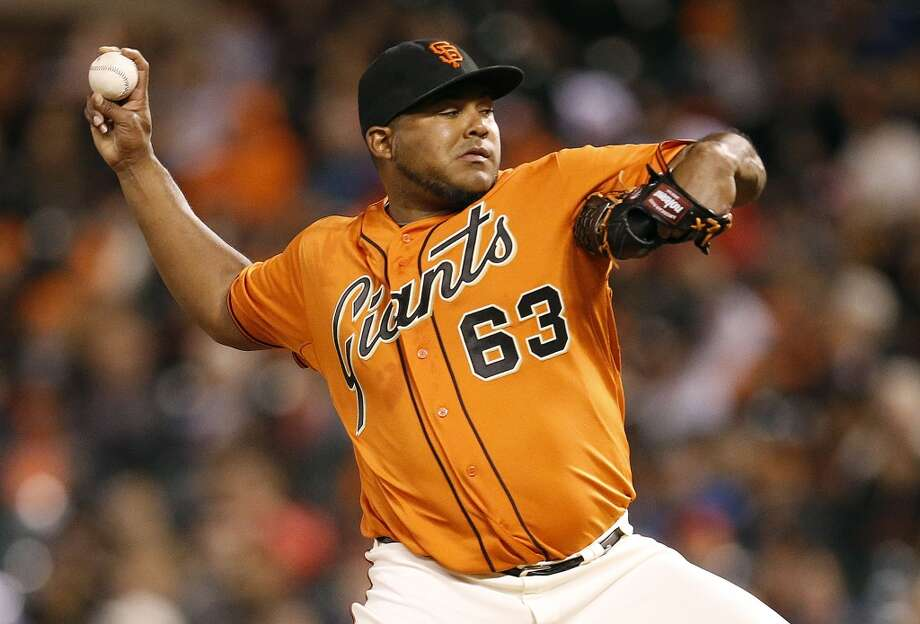 Biggest stunner:   Jean Machi: 5-0, 0.37 ERA. Photo: Tony Avelar, Associated Press