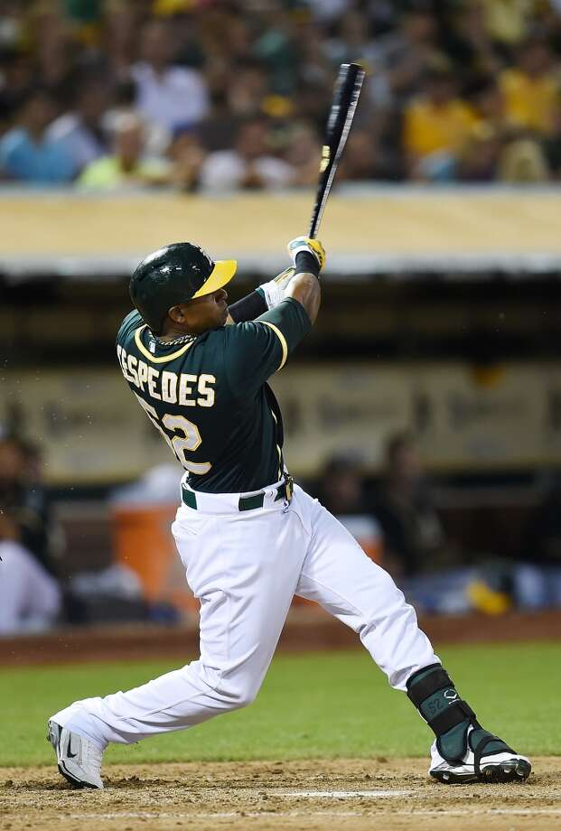 Must-see (offense): Yoenis Cespedes on a pitch at the eyes Photo: Thearon W. Henderson, Getty Images