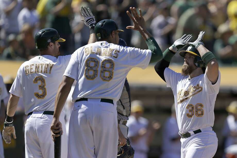 Most telling stat:  A's run differential (it reached plus-100 with Monday's 10-0 win) Photo: Ben Margot, Associated Press