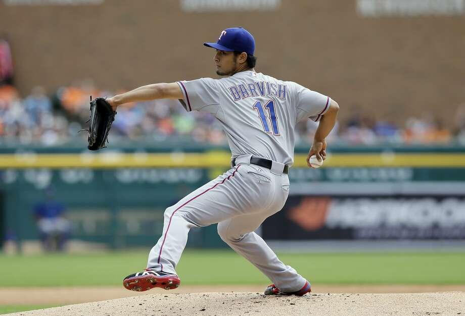 Texas' Yu Darvish is experiencing symptoms similar to those that sidelined him at the end of spring training. Photo: Carlos Osorio, Associated Press