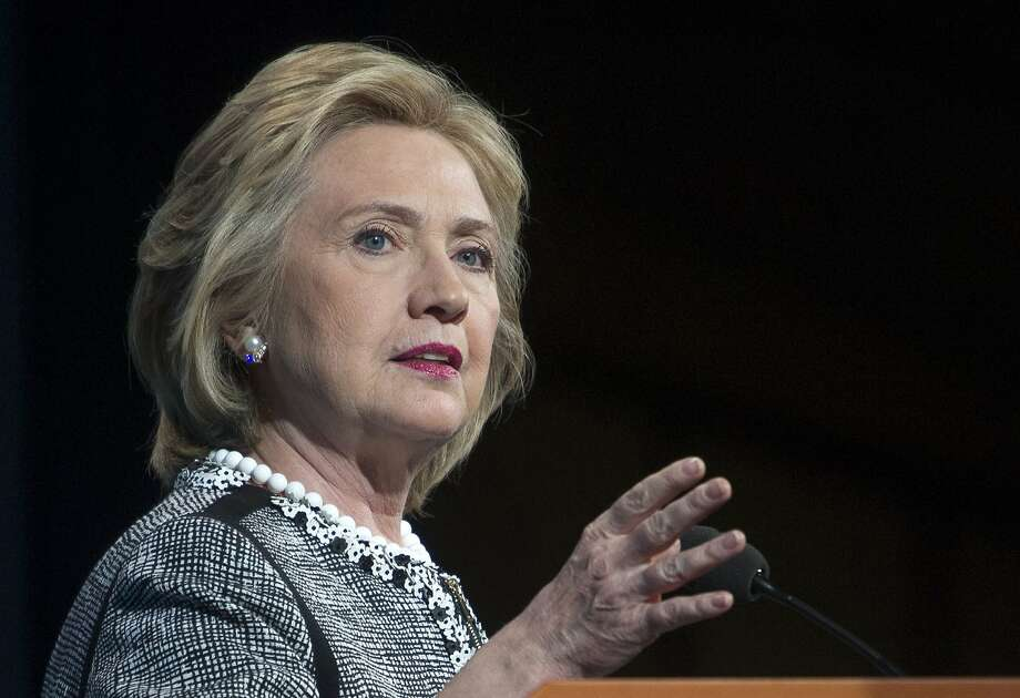 Hillary Rodham Clinton speaking in Washington. Photo: Cliff Owen, Associated Press