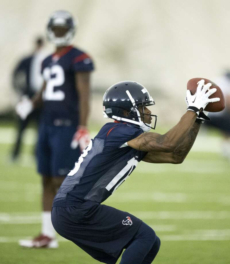 Texans wide receiver Anthony McClung makes a catch. Photo: Brett Coomer, Houston Chronicle