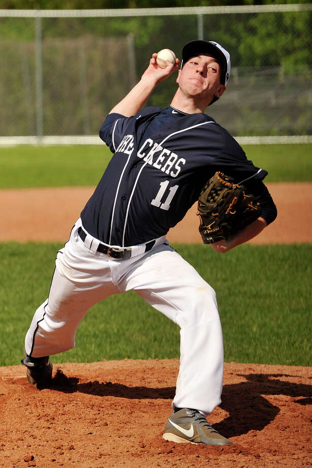Staples ace Rob Vallone allowed two runs in four and one third innings during a 6-2 loss to Greenwich on Tuesday. Photo: Jason Rearick / Stamford Advocate