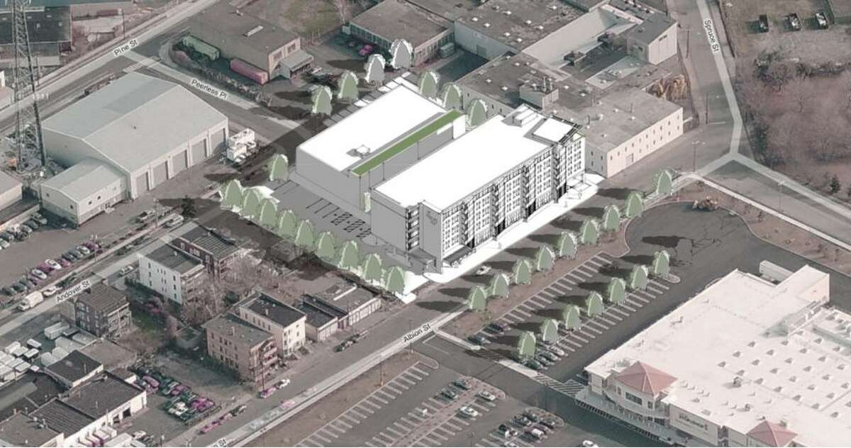 The Southwest Community Health Center, Inc. and the Bridgeport Housing Authority are nearing construction of a nearly $20 million medical, dental and housing complex on an empty 1.16-acre parcel on Albion Street. The new buildings will replace Southwest's clinic one block away at 361 Bird St., while providing additional public housing units in the city.