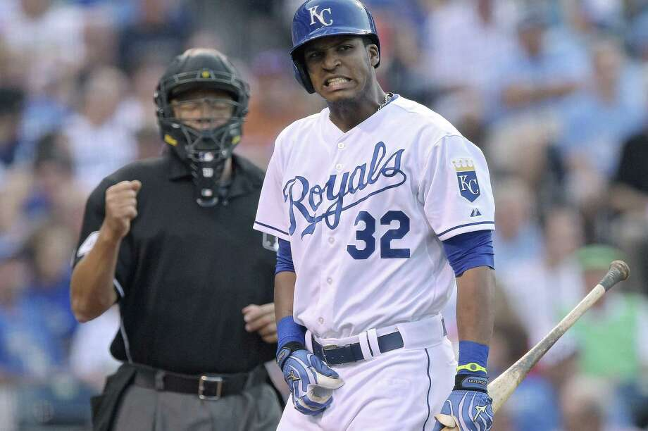 The Royals' Jimmy Paredes grimaces after striking out in the third against the Astros' Collin McHugh. Photo: John Sleezer / McClatchy-Tribune News Service / Kansas City Star