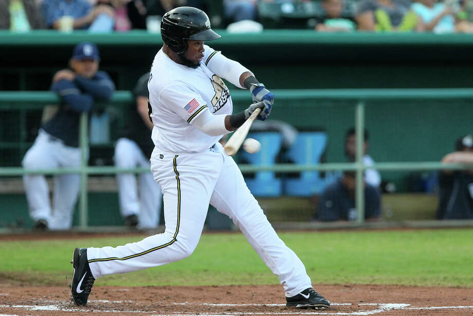FILE PHOTO: Yeison Asencio of the Missions connects for a first inning single during their game with Northwest Arkansas at Wolff Stadium on Tuesday, May 27, 2014.  MARVIN PFEIFFER/ mpfeiffer@express-news.net Photo: Marvin Pfeiffer/ Express-News / Express-News 2014