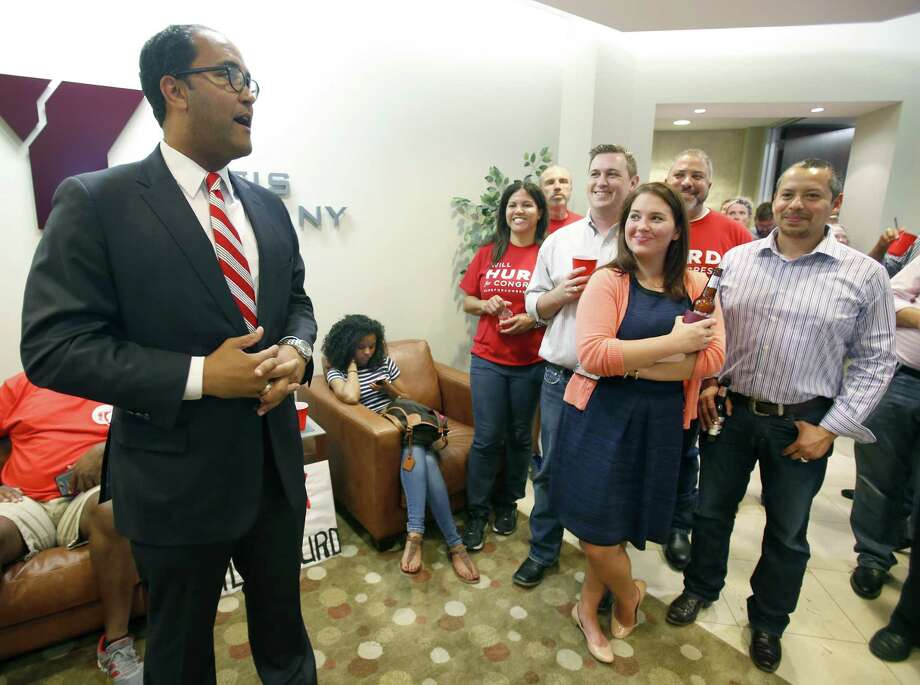 "Will Hurd speaks Tuesday night May 27, 2014 to his supporters as results roll in for his GOP primary runoff against Francisco ""Quico"" Canseco. Photo: William Luther, San Antonio Express-News / © 2014 San Antonio Express-News"