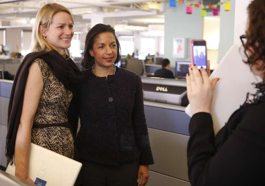 Katie Jacobs Stanton, vice president of international growth at TwitterJacobs Stanton, left, with ambassador Susan Rice, has led Twitter's international growth strategy since 2010. She previously worked at Google, Yahoo, and the U.S. State Department. Photo: Alex Washburn, The Chronicle