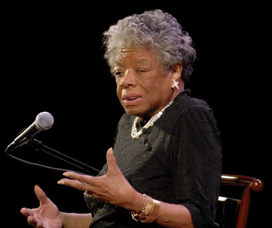 Poet, historian, author, actress, paywright, civil-rights activist, producer and director Maya Angelou at the Palace Theater in Albany in 2008. (Times Union staff photo by Michael P. Farrell) Photo: MICHAEL P. FARRELL / ALBANY TIMES UNION