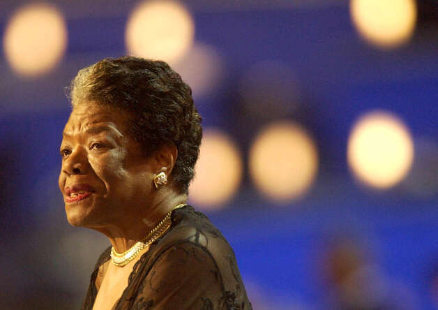 Maya Angelou, a poet and activist, addresses the delegation during the 2004  Democratic National Convention in Boston. (Will Waldron/Times Union archive) Photo: WILL WALDRON / ALBANY TIMES UNION