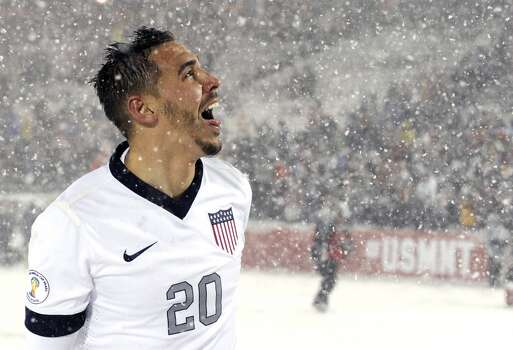 Geoff Cameron | Defender | Birthplace: Attleboro, Mass. Age: 28 | First World Cup appearance | Club team: Stoke City (England) Cameron starred for the Houston Dynamo from 2008 to 2012 before moving on to Stoke, where he's made 79 appearances over the last two seasons. He played collegiately for both West Virginia and Rhode Island, and is known for his versatility — being able to play center back as well as attacking or defending midfielder. Photo: Jack Dempsey, Associated Press