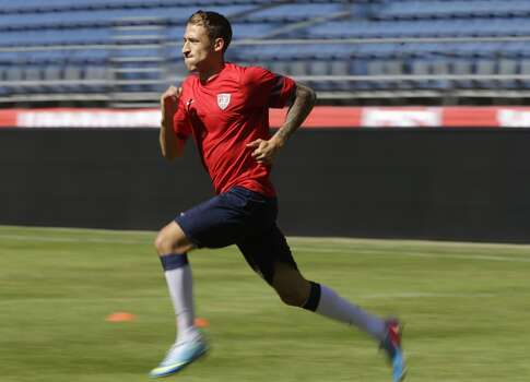 Fabian Johnson | Defender | Birthplace: Munich, Germany Age: 26 | First World Cup appearance | Club team: Borussia Mönchengladbach (Germany) Yet another son of a U.S. serviceman, Johnson was persuaded to join the U.S. team by Klinsmann in 2011 after playing for Germany, with whom he won the UEFA Under-21 Championship in 2009. Johnson can play left winger and left or right back. Photo: Ted S. Warren, Associated Press
