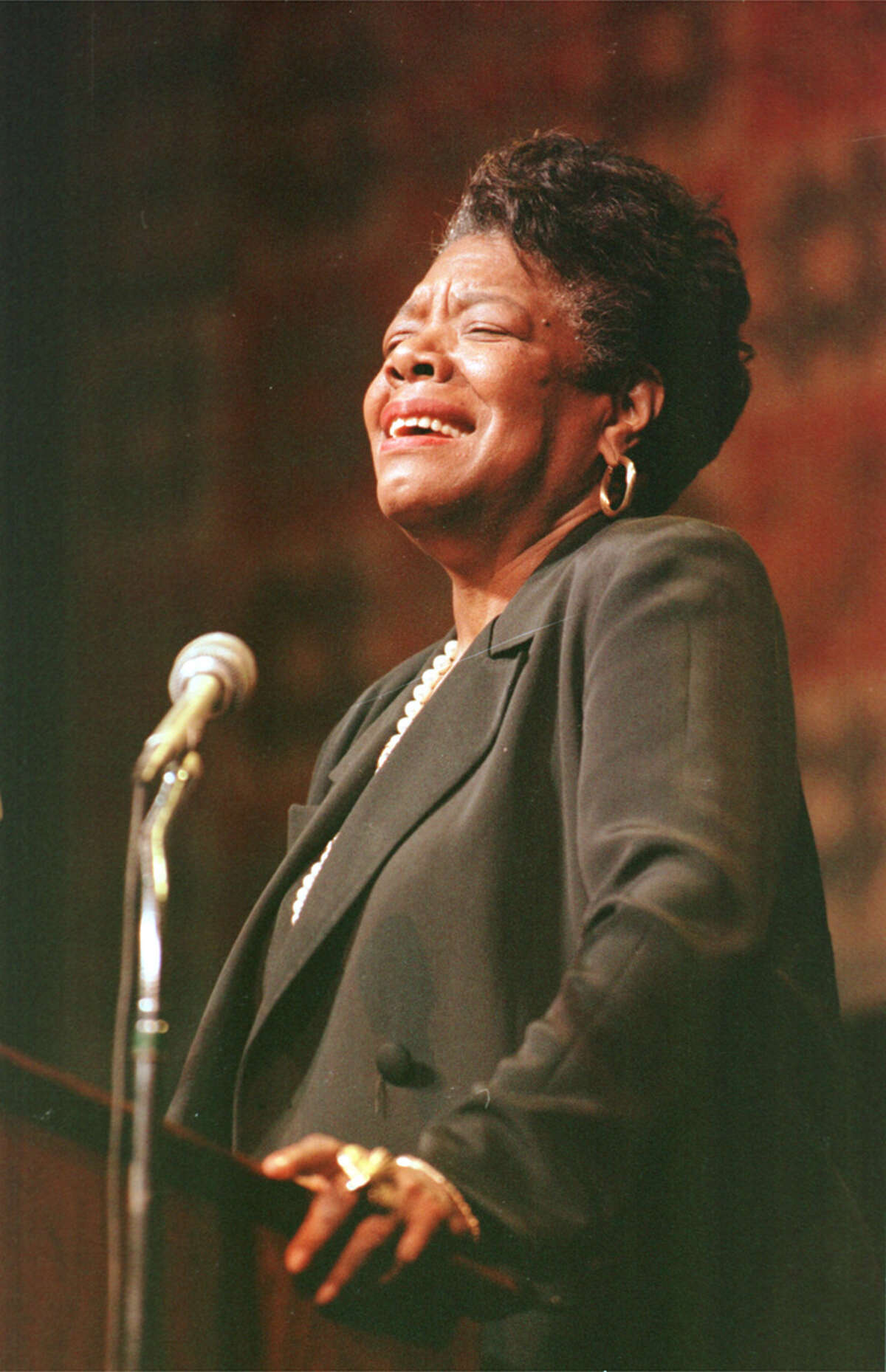 Maya Angelou wowed guests at Cullen Performance Hall on the University of Houston campus in 1997.