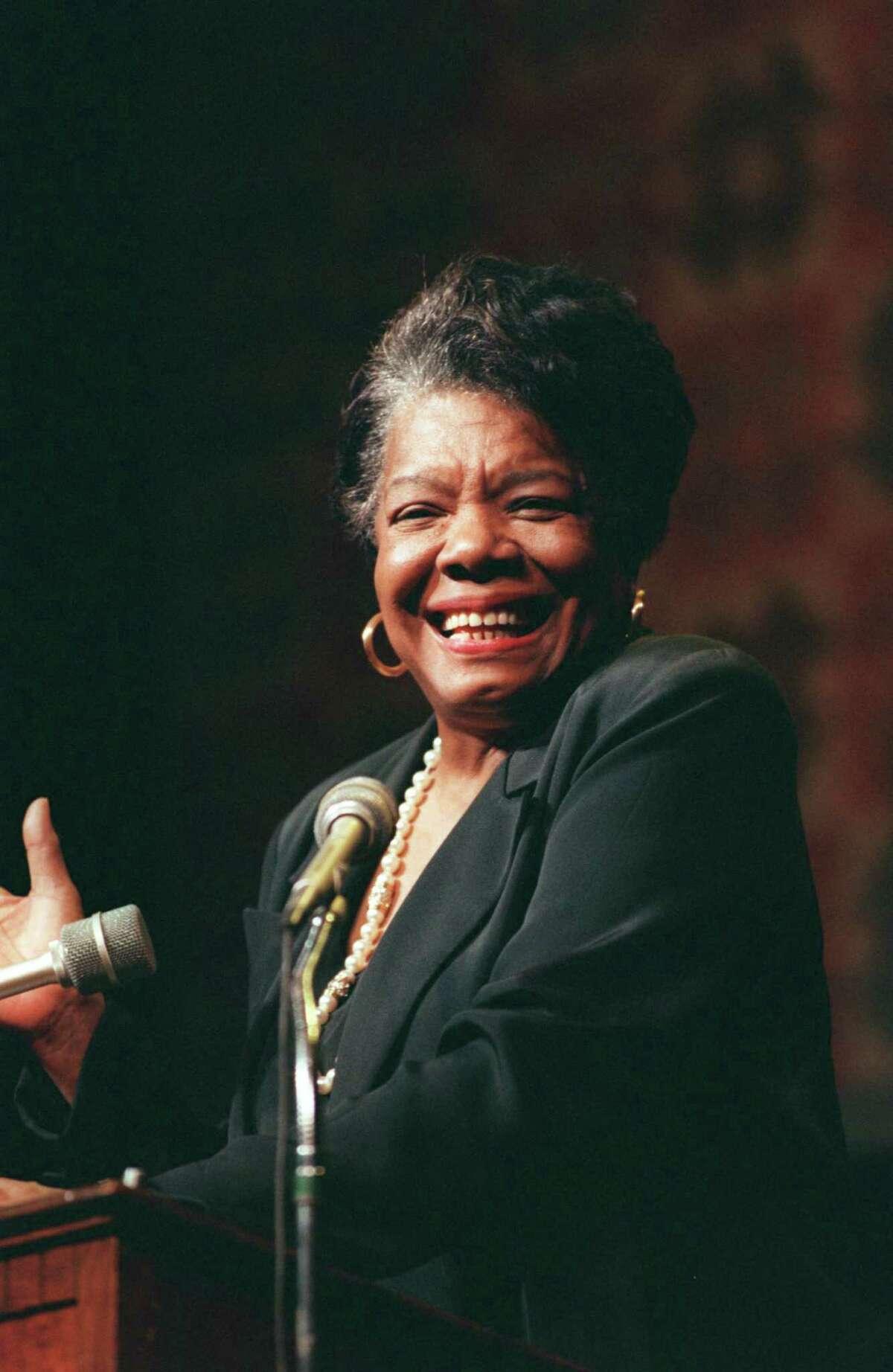 Poet/writer Maya Angelou in 1998.