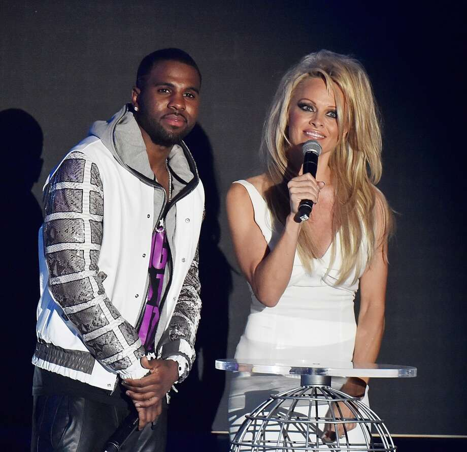 Jason Derulo and Pamela Anderson attend the ceremony of the World Music Awards 2014 at Sporting Monte-Carlo on May 27, 2014 in Monte-Carlo, Monaco. Photo: Pascal Le Segretain, Getty Images