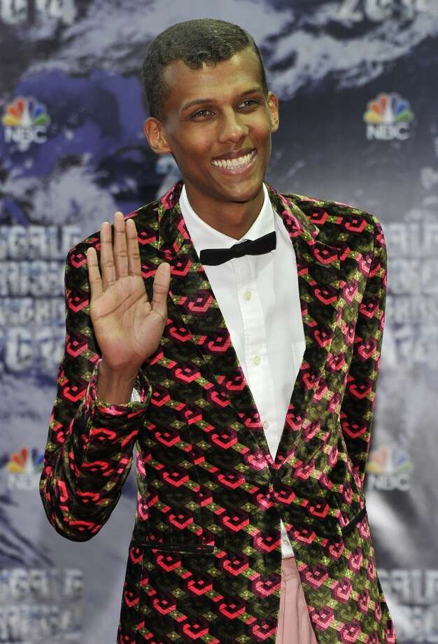 Belgian singer Stromae poses as he arrives for the World Music Awards in Monaco, Tuesday, May 27, 2014. Photo: Bruno Bebert, Associated Press