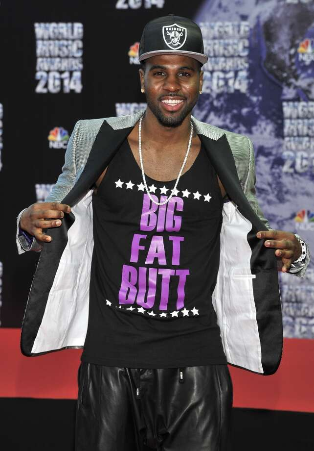 American singer Jason Derulo poses as he arrives for the World Music Awards in Monaco, Tuesday, May 27, 2014. Photo: Bruno Bebert, Associated Press