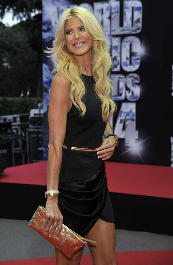 Swedish model Victoria Silvstedt poses as she arrives for the World Music Awards in Monaco, Tuesday, May 27, 2014. Photo: Bruno Bebert, Associated Press