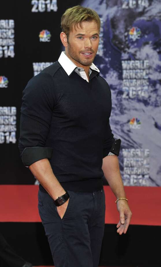 American actor Kellan Lutz poses as he arrives for the World Music Awards in Monaco, Tuesday, May 27, 2014. Photo: Bruno Bebert, Associated Press
