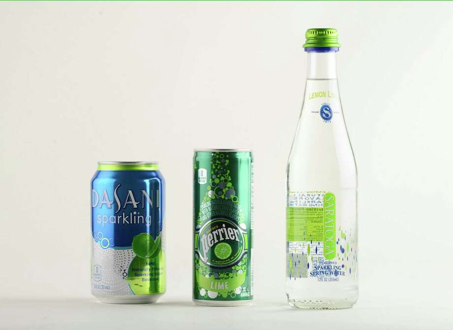 Lime flavored sparking water: Dasani, Perrier, and Saratoga Friday afternoon, May 23, 2014, in Colonie, N.Y. (Will Waldron/Times Union) Photo: WW / 00026984A