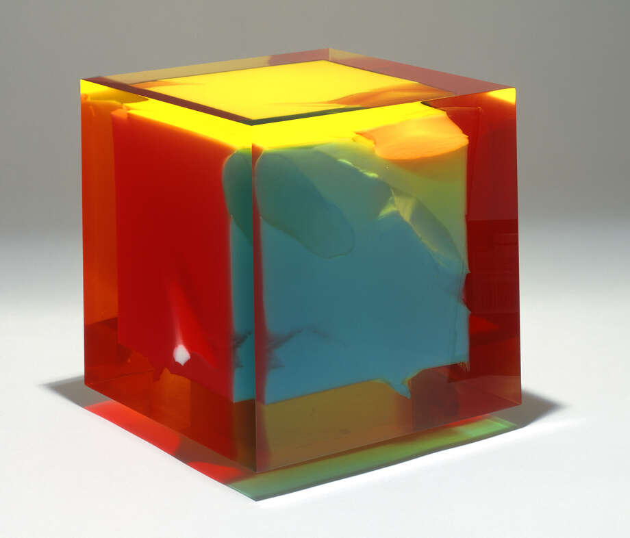 """Untitled Dennis E. Byng (1927- 1974 cast Lucite, ht.11 5/8"""" x w.11 7/8""""x d.11 5/8"""" signed and inscribed on bottom: Byng 74 A 70 2.2 Albany Institute of History & Art Purchase, 1992.32.2"""