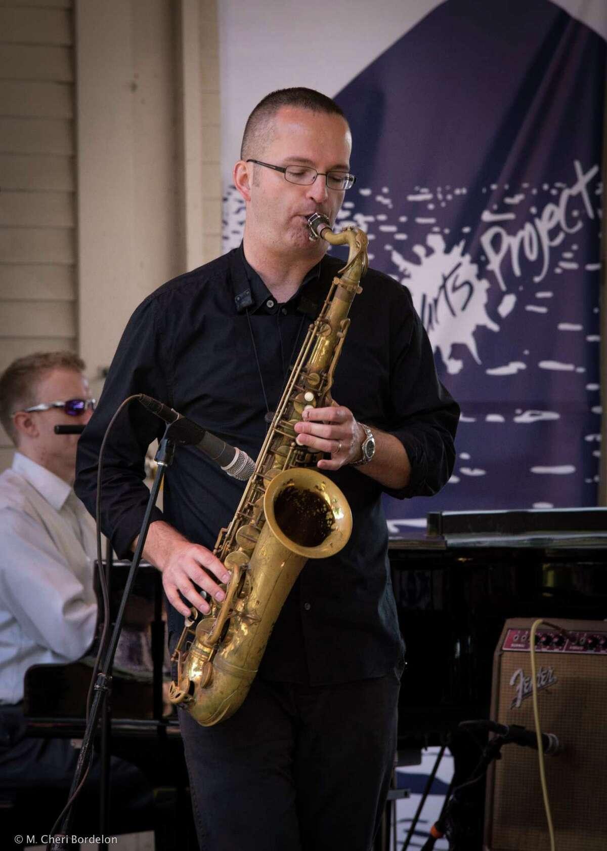 Brian Patneaude at Lake George Jazz Festival last fall. Photo archive/M Cheri Bordelon