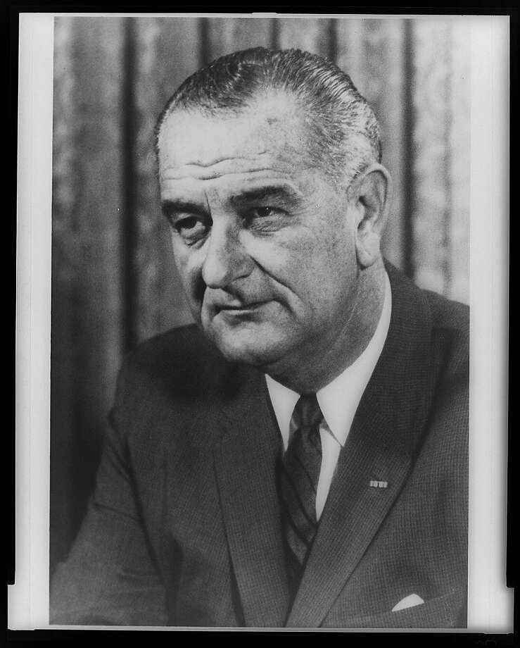 President Lyndon B. Johnson was well received  in San Francisco in 1964. Photo: Library Of Congress, Courtesy To The Chronicle