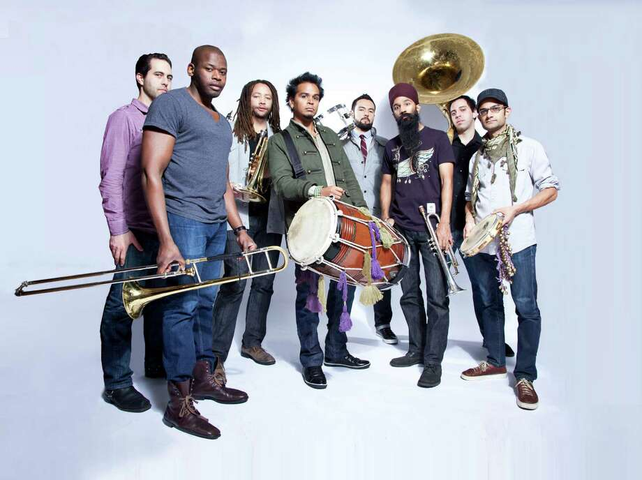 The Brooklyn, N.Y.-based band Red Baraat, known for its jazzy, percussive sound, will take to the stage at the Fairfield Theatre Company in Fairfield, Conn., on Sunday, June 8, 2014. Contributed photo/Erin Patrice O'Brien Photo: Contributed Photo / Stamford Advocate Contributed