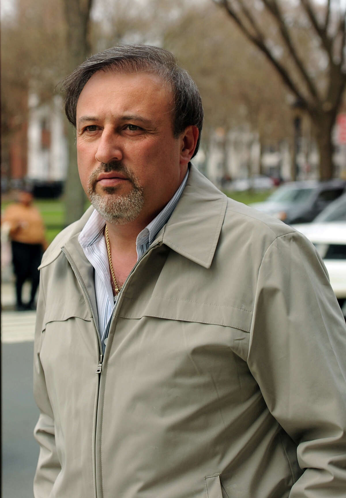 Shelton developer James Botti leaves US District Court in New Haven on Mar. 26, 2010.
