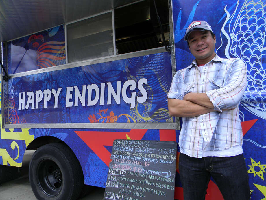 Check out some of the great food trucks Houston has to offer at the Houston Food Truck Fest ...Happy Endings: Ryan Javiar is the owner of Happy Endings food truck. Photo: Paul Galvani
