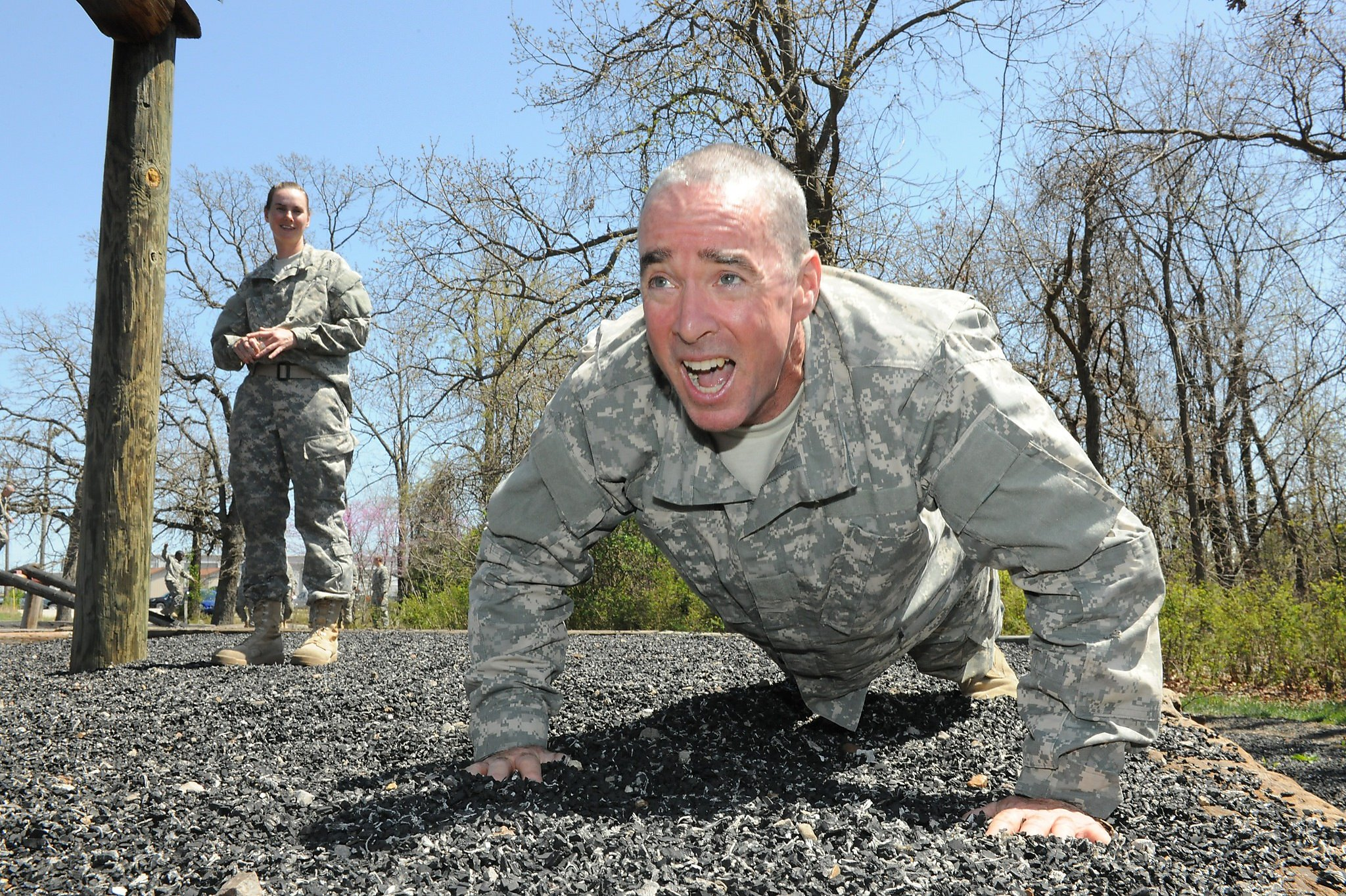 Soldier, 55, about to graduate from combat basic training