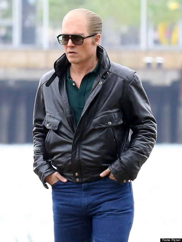 "Johnny Depp as mob boss James ""Whitey"" Bulger in the upcoming 'Black Mass' film. Photo: Patriot Pics/FAMEFLYNET PICTURES / © 2014 FameFlynet, Inc - Beverly Hills, CA, U.S.A."