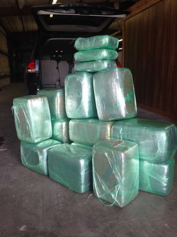 The Orange County Sheriff's Office said deputies found 350 pounds of marijuana on Wednesday inside a van driven by a Florida man.   Photo: Orange County Sheriff's Office.