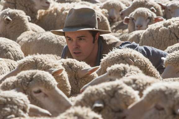 "SETH MACFARLANE directs, produces, co-writes and plays the role of the cowardly sheep farmer Albert in ""A Million Ways to Die in the West""."