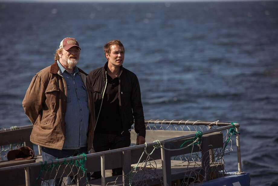 "Brendan Gleeson (left) and Taylor Kitsch make plenty out of their roles in ""The Grand Seduction."" Photo: Duncan De Young, Max Films"