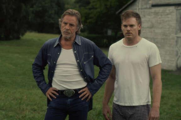 Sam Shepard (Russel), Don Johnson (Jim Bob), and Michael C. Hall (Richard Dane) and in Jim MickleÕs COLD IN JULY.