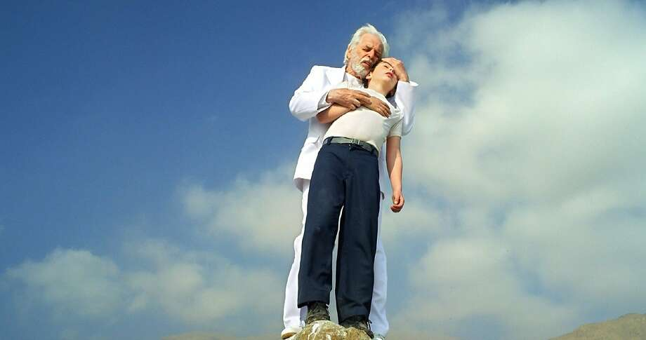 """Alejandro Jodorowsky makes several cameos in this autobiographical film, and he embraces and tries to console his younger self, played by Jeremias Herskovits in """"The Dance of Reality,"""" Jodorowsky's first film in 23 years. Photo: Courtesy Of ABKCO La Danza, LLC"""