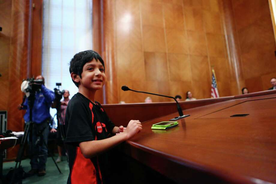 Joaquin Garcia speaks to the Houston City Council in favor of the equal rights ordinance on May 28, 2014. Photo: Marie D. De Jesus, Houston Chronicle / © 2014 Houston Chronicle