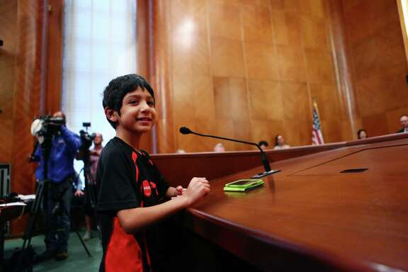 Joaquin Garcia speaks to the Houston City Council in favor of the equal rights ordinance, Wednesday, May 28, 2014, in Houston.