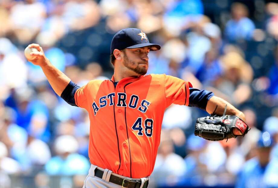 May 28: Astros 9, Royals 3Starting pitcher Jarred Cosart pitches. Photo: Jamie Squire, Getty Images