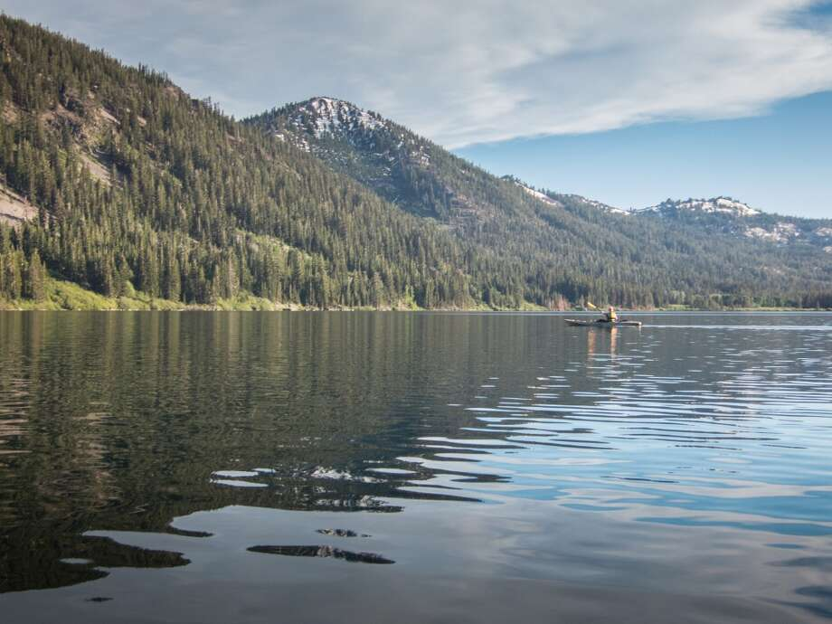 Independence Lake watershed basin is framed by mountain rims Photo: Simon Williams/The Nature Conservancy
