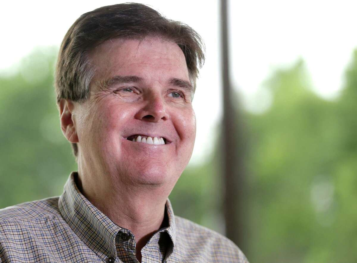 File - In this May 27, 2014 file photo, Republican Dan Patrick smiles as he faces the media at a polling place on election day, in Houston. PatrickÂ?'s victory Tuesday in the Republican primary for lieutenant governor_an especially powerful position in Texas _ over 11-year incumbent David Dewhurst should not only push a deeply red state even farther to the right but could signal the second coming of Cruz. (AP Photo/Pat Sullivan, File)