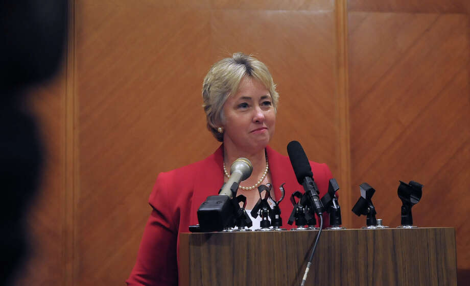Houston Mayor Annise Parker addresses the media after the vote. Photo: © Tony Bullard 2014, Tony Bullard / © Tony Bullard & the Houston Chronicle