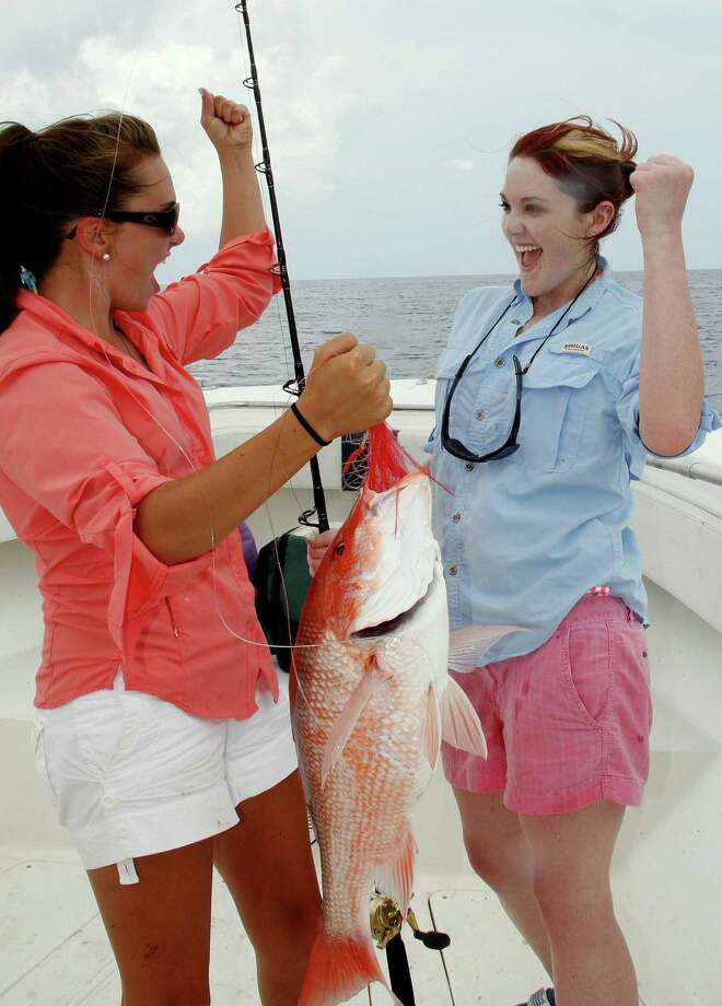Texas fisheries officials are soliciting anglers taking red snapper after the June 1 start of the 9-day recreational snapper season in federal waters of the Gulf waters to  report their catches through an on-line survey aimed at improving accuracy of snapper landing estimates used to set season lengths.  Houston Chronicle photo by Shannon Tompkins Photo: Picasa