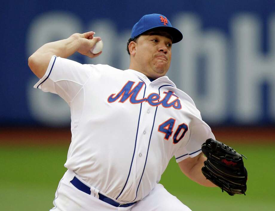 New York Mets' Bartolo Colon delivers a pitch during the first inning of a baseball game against the Pittsburgh Pirates Wednesday, May 28, 2014, in New York. (AP Photo/Frank Franklin II) ORG XMIT: NYM102 Photo: Frank Franklin II / AP