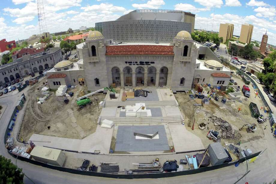 The familiar outlines of Municipal Auditorium have been reformed as the Tobin Center for the Performing Arts. Photo: Photos By William Luther / San Antonio Express-News / © 2014 San Antonio Express-News