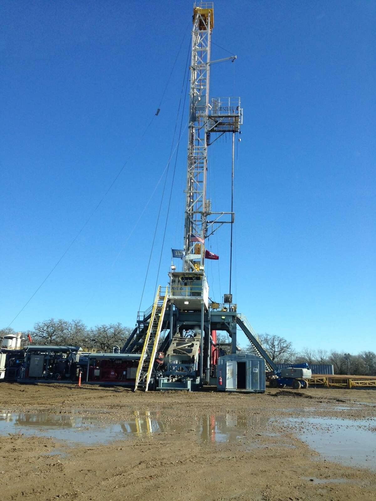 This Laredo Energy rig is working in Brazos County. The company plans to add an oil drilling program focused on the Eaglebine play in East Central Texas.